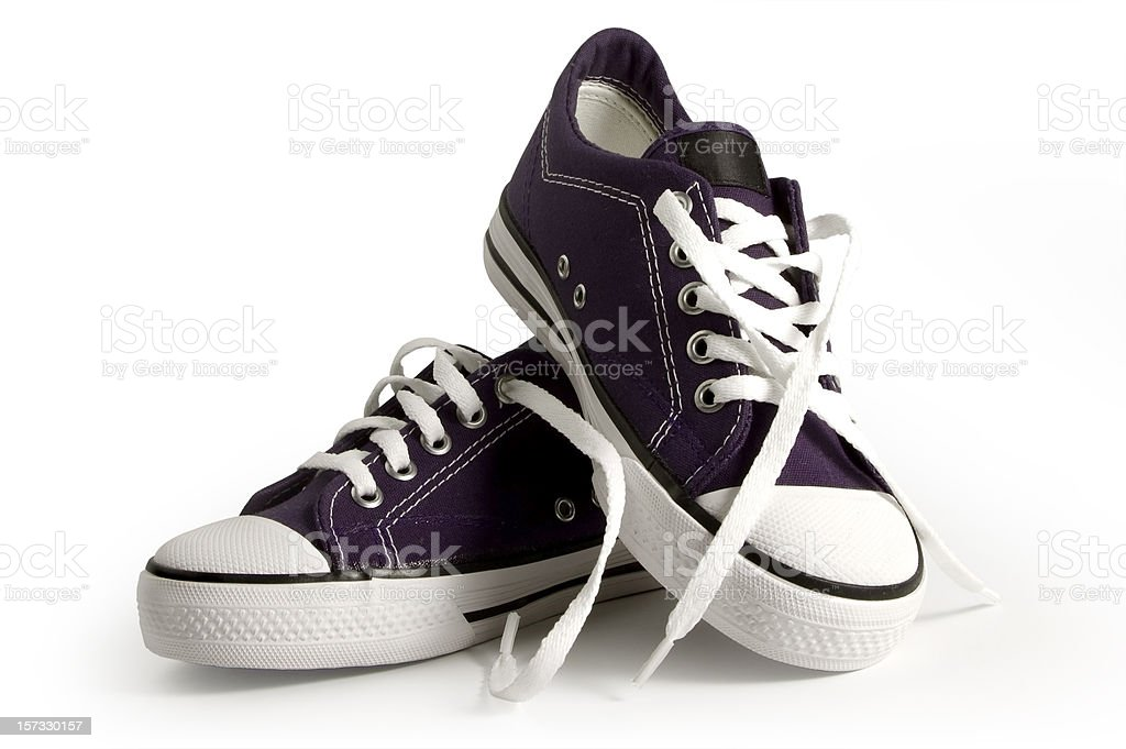 Purple Sneakers With Clipping Path royalty-free stock photo