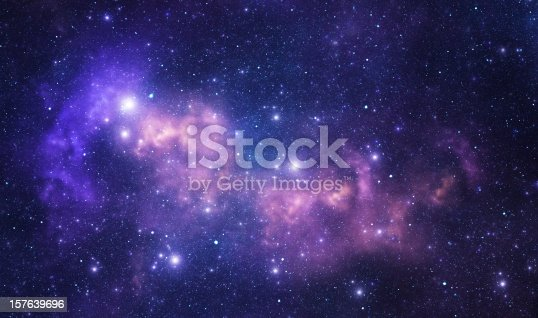 Space stars and nebula as purple abstract background