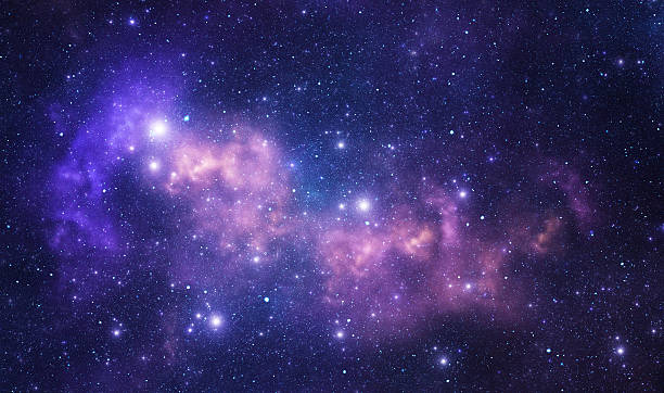 Purple space stars Space stars and nebula as purple abstract background dreamlike stock pictures, royalty-free photos & images