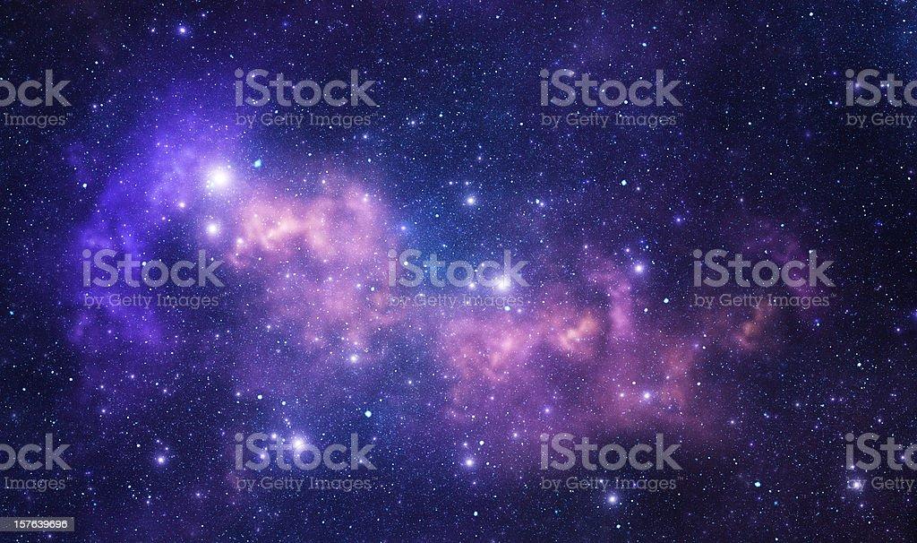 Púrpura espacio estrellas - foto de stock