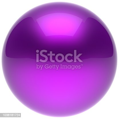 869781130 istock photo Purple sphere ball blue push button circle round solid bubble 1038181724