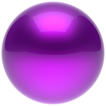 istock Purple sphere ball blue push button circle round solid bubble 1038181724
