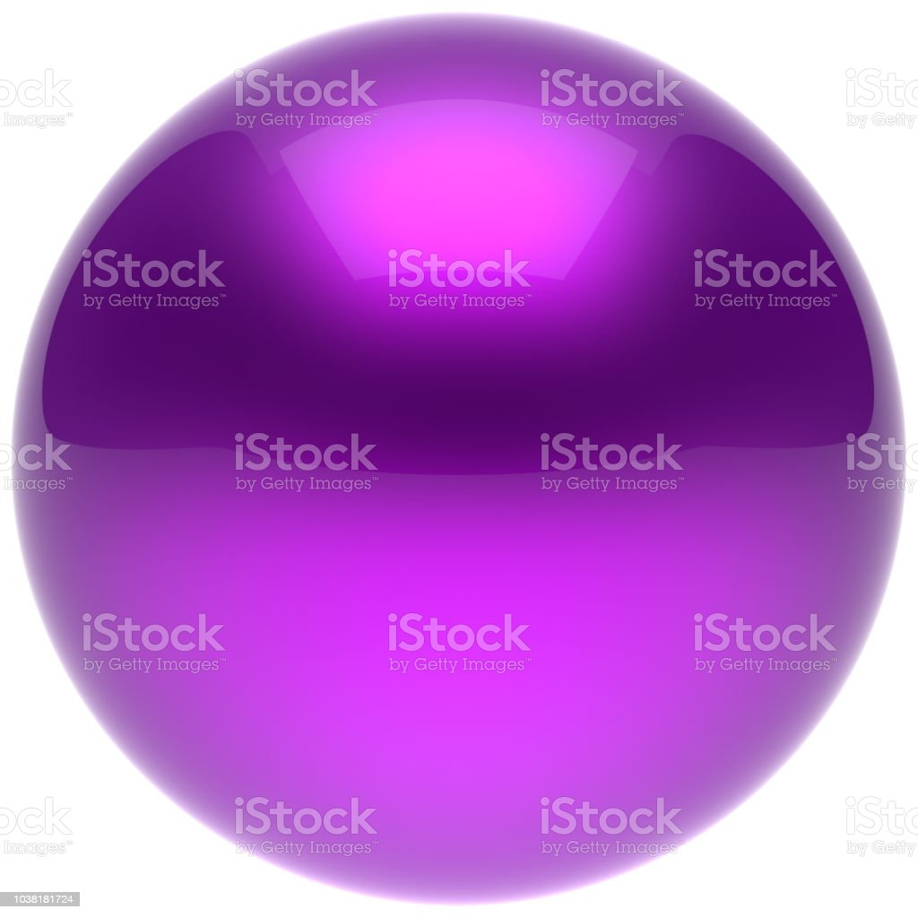 Purple sphere ball blue push button circle round solid bubble stock photo