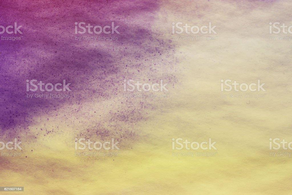 purple spreads ink on white wrinkled paper Lizenzfreies stock-foto