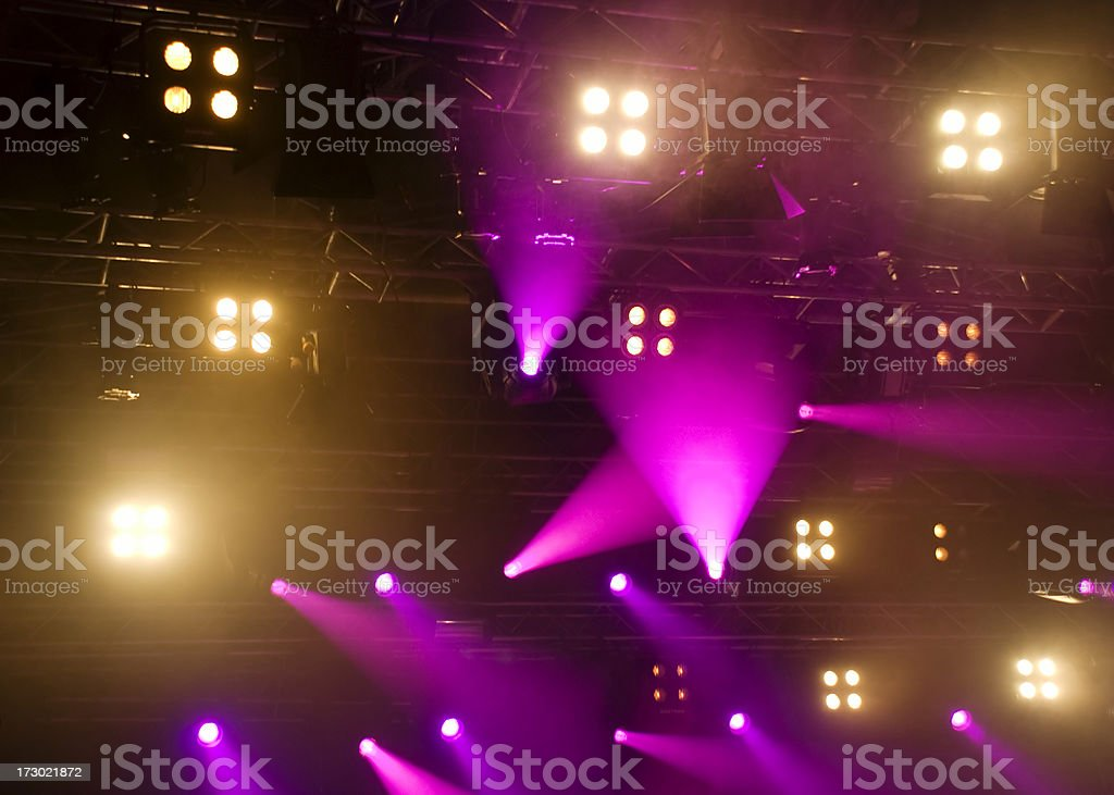 Purple Stage Lights royalty-free stock photo