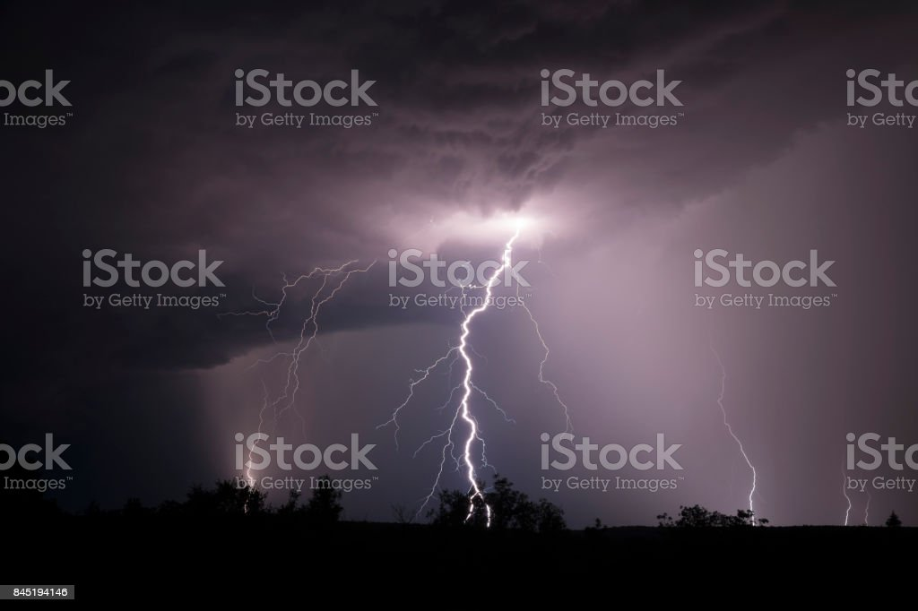 Purple storm stock photo
