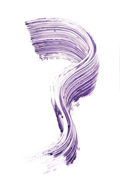 마스카라의 보라색 스트로크 스톡 사진