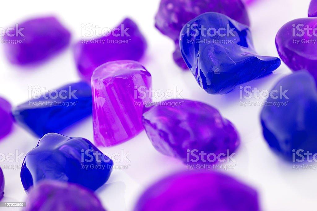 Purple Sugar Candies - Like precious gems royalty-free stock photo
