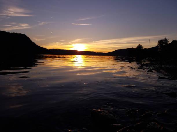 Purple sunset on the lake. Zug, Switzerland Landscape photography zug stock pictures, royalty-free photos & images