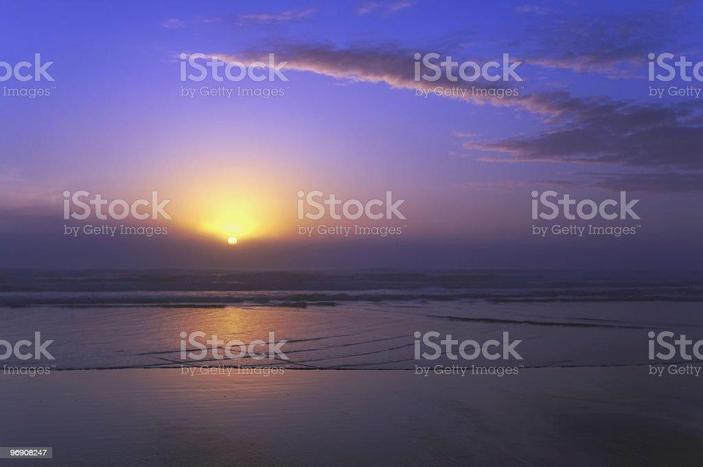 Purple Sunset royalty-free stock photo