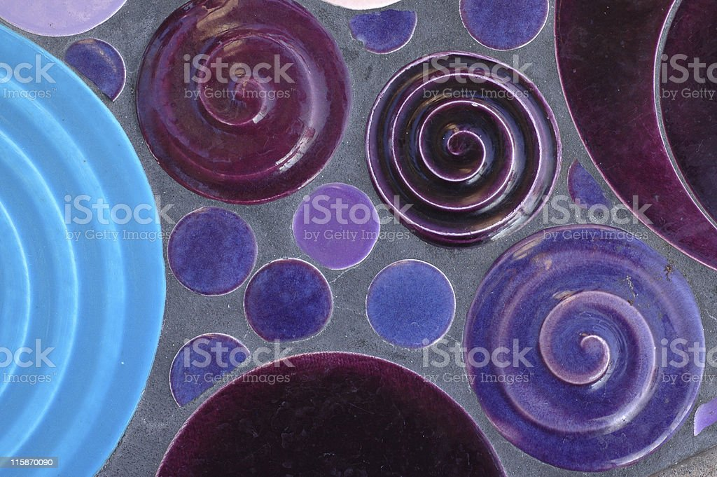 purple tile circles and swirls royalty-free stock photo