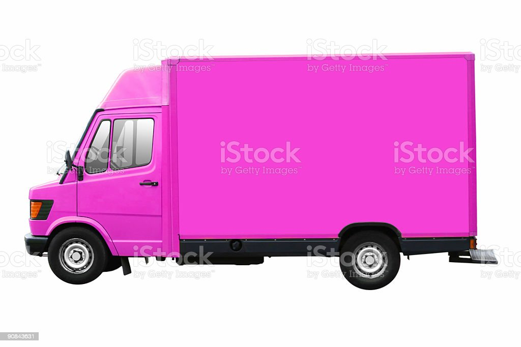 Purple Truck Isolated royalty-free stock photo