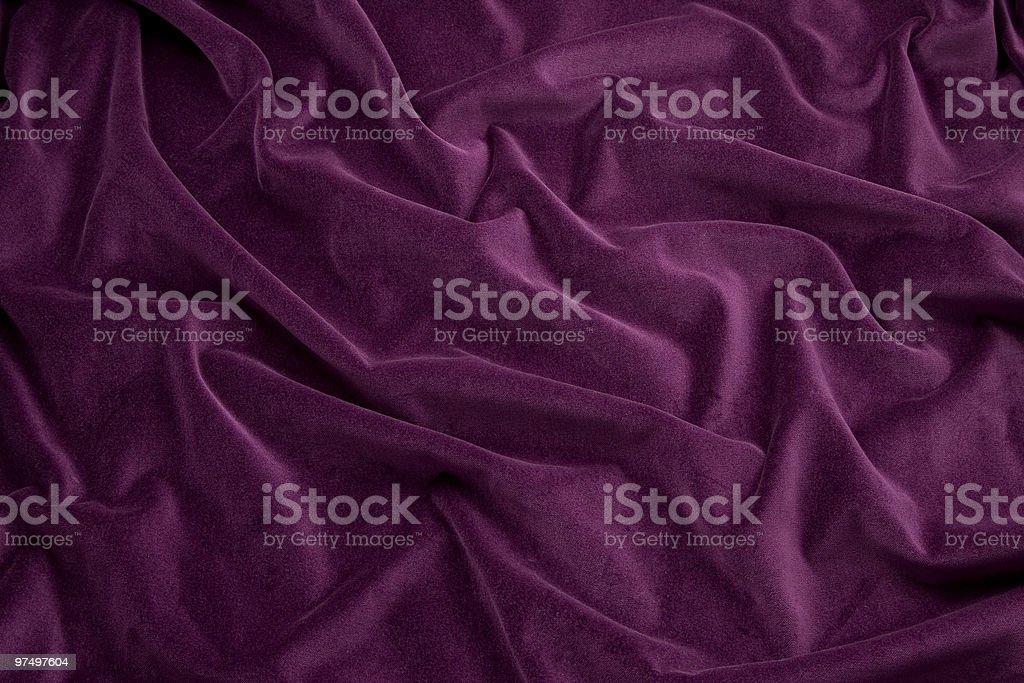 Purple Velvet Fabric royalty-free stock photo