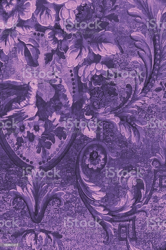 Purple Vintage Pattern royalty-free stock photo