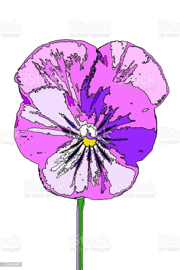 purple viola posterized stock photo
