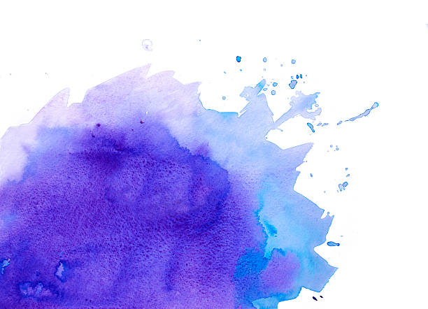 purple watercolor background - purple watercolor stock photos and pictures