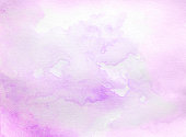 Purple watercolor background hand colored with layers on white watercolor paper