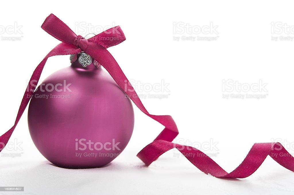 Purple xmas ball royalty-free stock photo