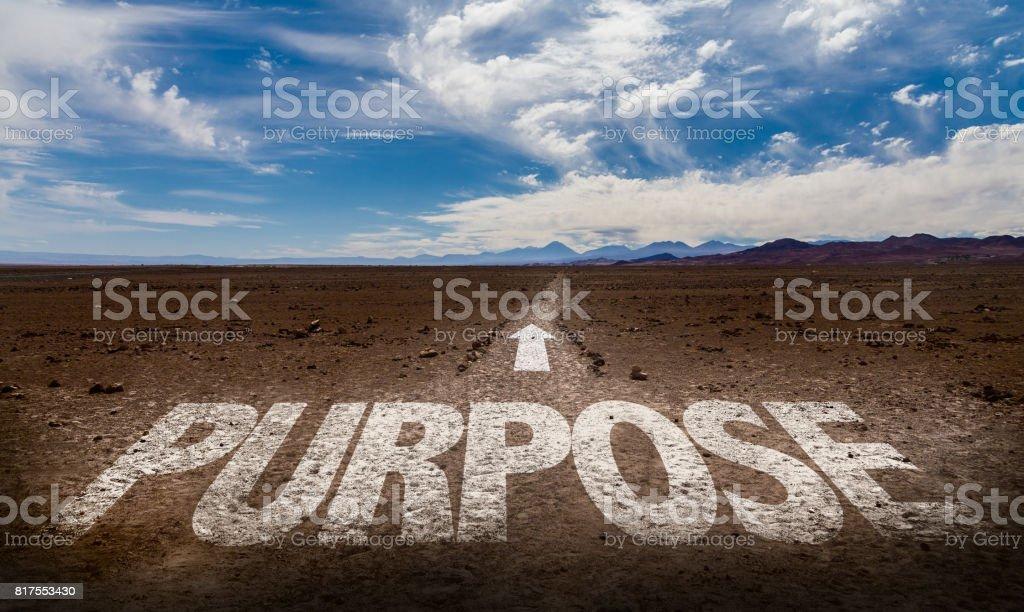Purpose stock photo