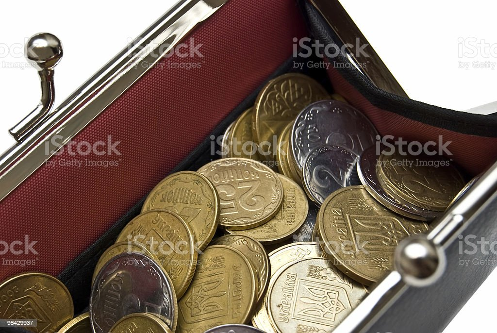 purse and coins royalty-free stock photo