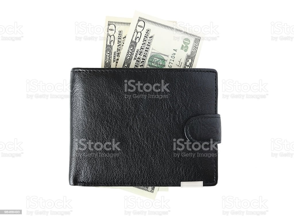 Purse and money royalty-free stock photo