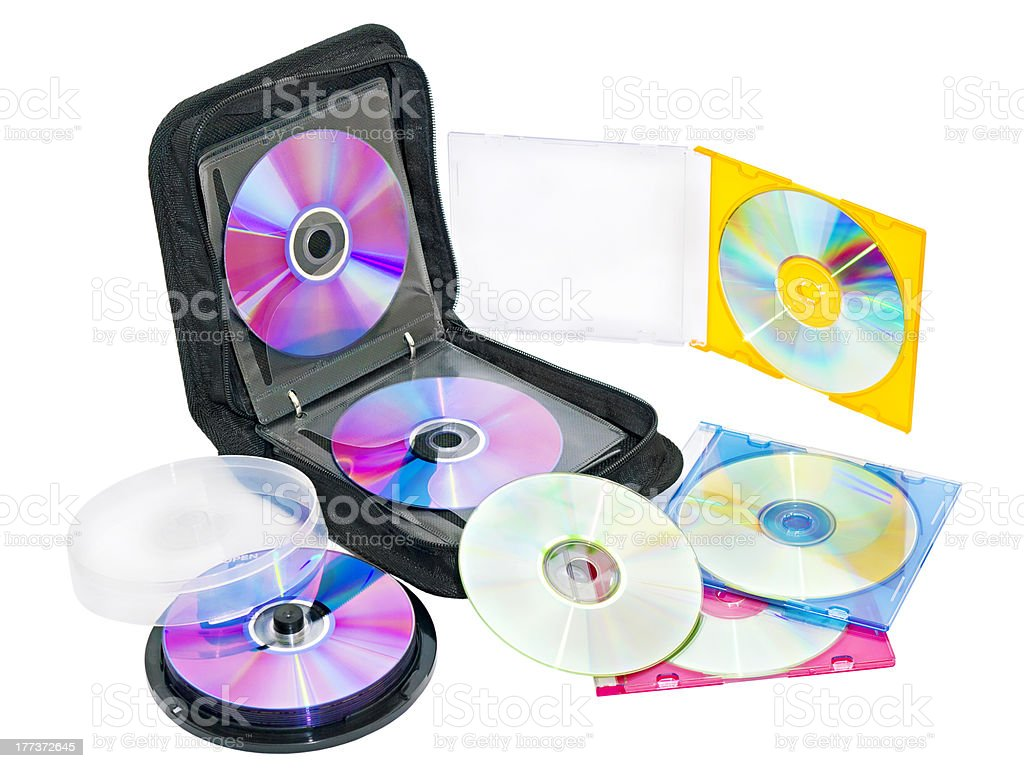 purse for DVD and CD discs stock photo