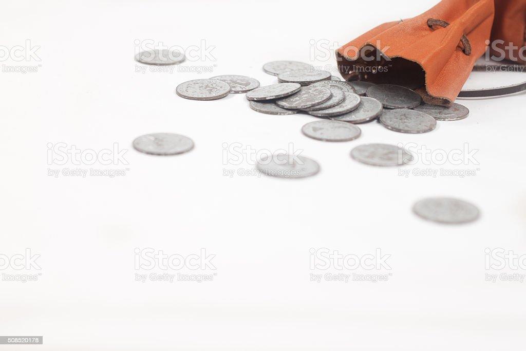 Purse of Silver stock photo