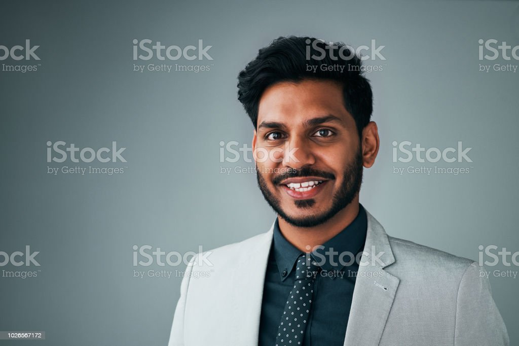 I pursued happiness and then success followed stock photo