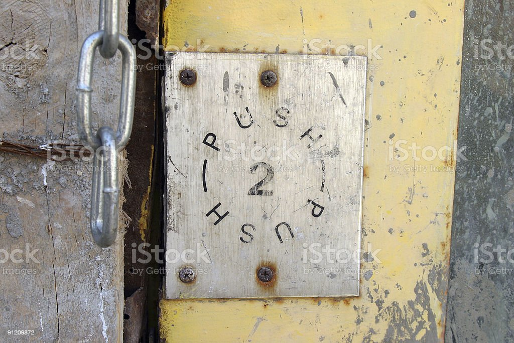 Push - 2 royalty-free stock photo