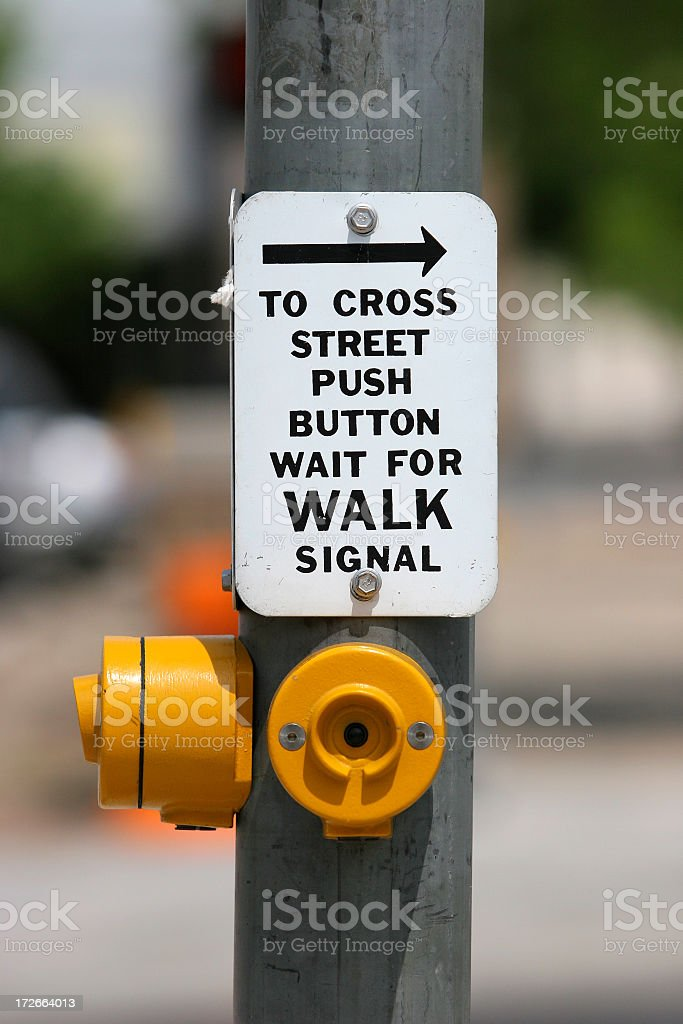Push 2 Walk royalty-free stock photo