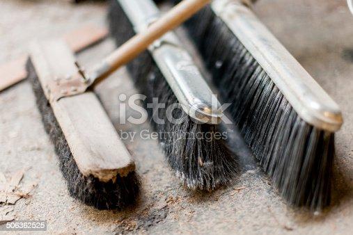 istock Push Brooms 506362525