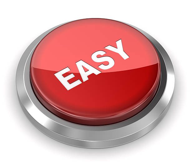 push button - easy - effortless stock photos and pictures