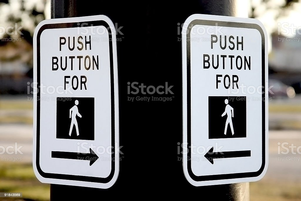 Push Button For Walk Sign royalty-free stock photo