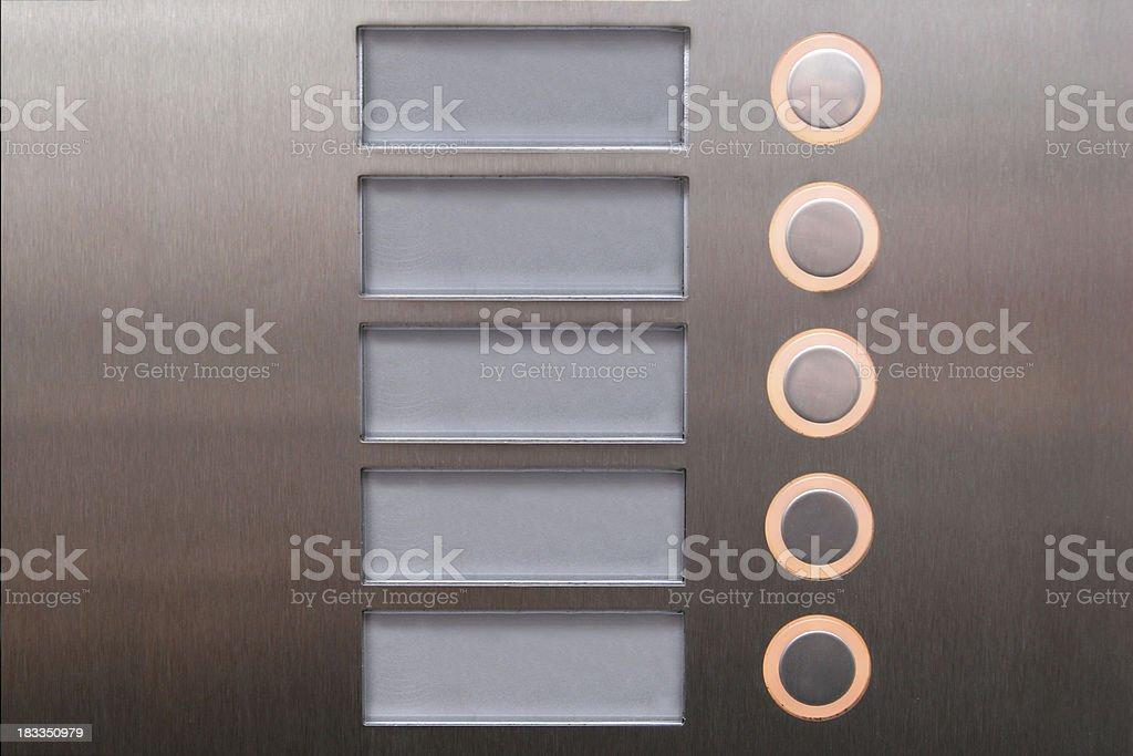 Botones pulsadores - foto de stock
