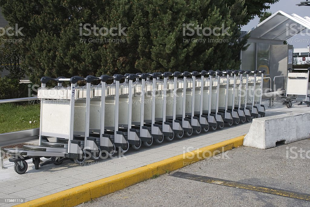 push carts royalty-free stock photo