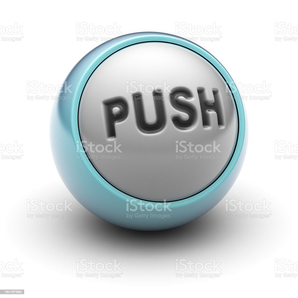 Push royalty-free stock photo