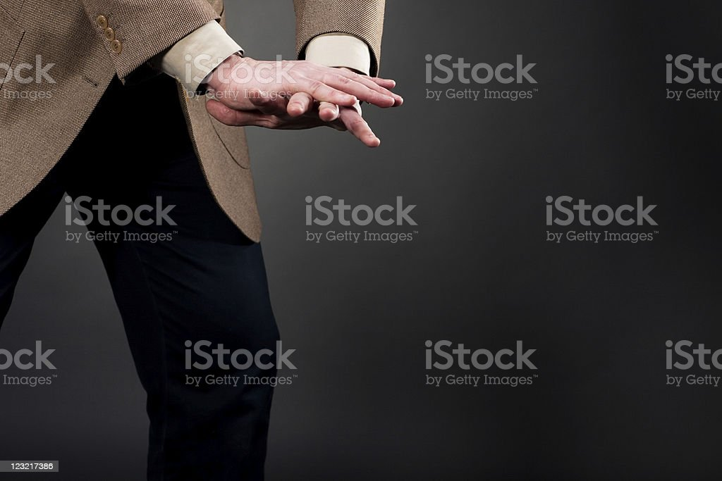 Pushing down royalty-free stock photo
