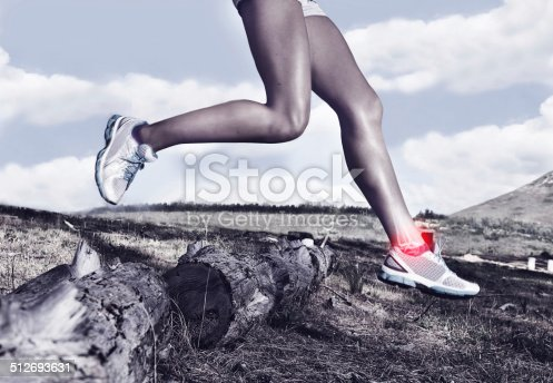 istock Pushing herself to the limit 512693631