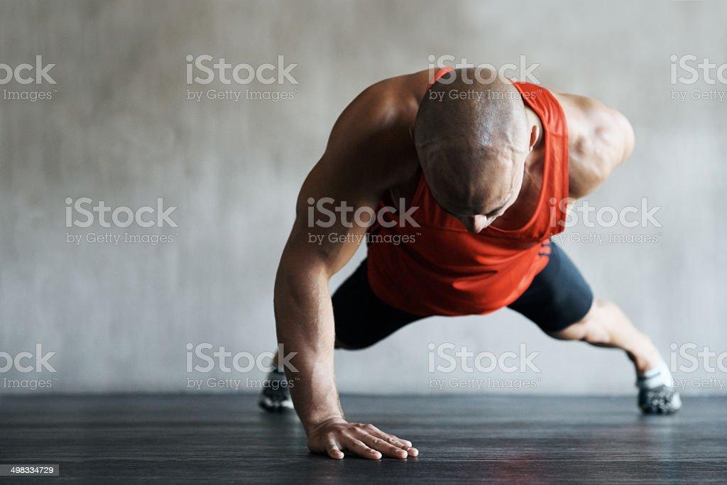 Pushing past the boundaries of endurance stock photo