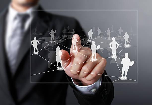 Schieben soziales Netzwerk-Struktur – Foto