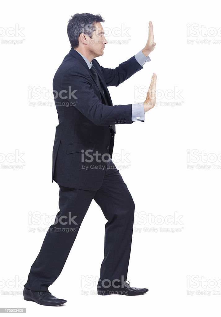 Pushing the boundaries of business stock photo