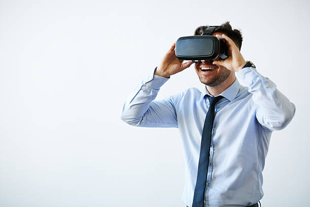Pushing the boundaries with vr stock photo