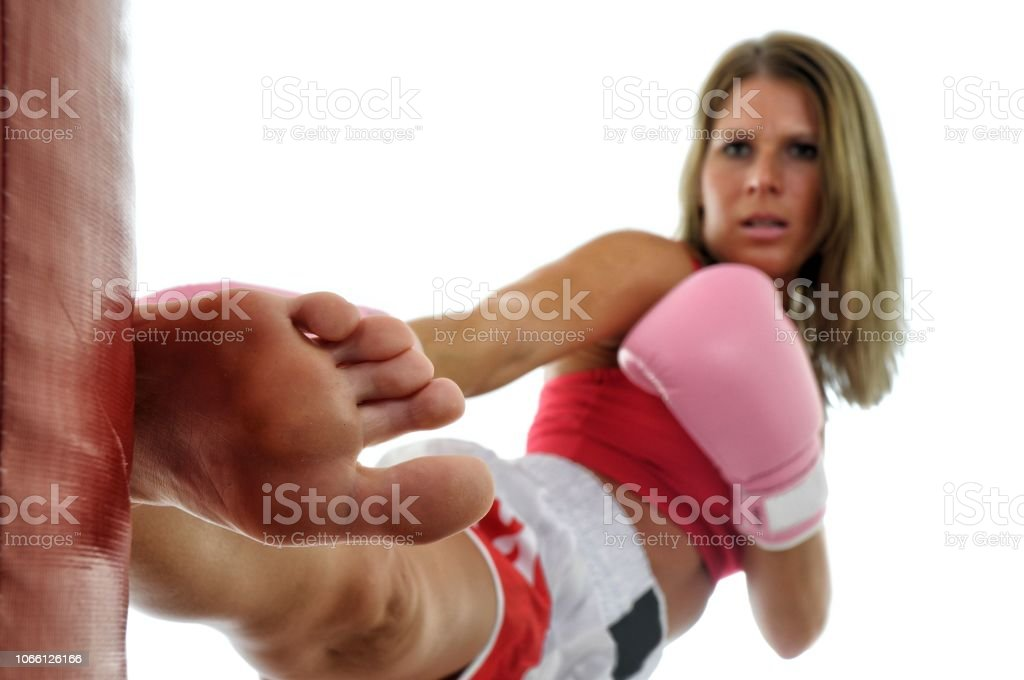 Pushing Through the Tough Rounds stock photo