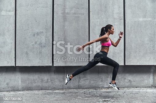 istock Pushing to the limit. 1007730150