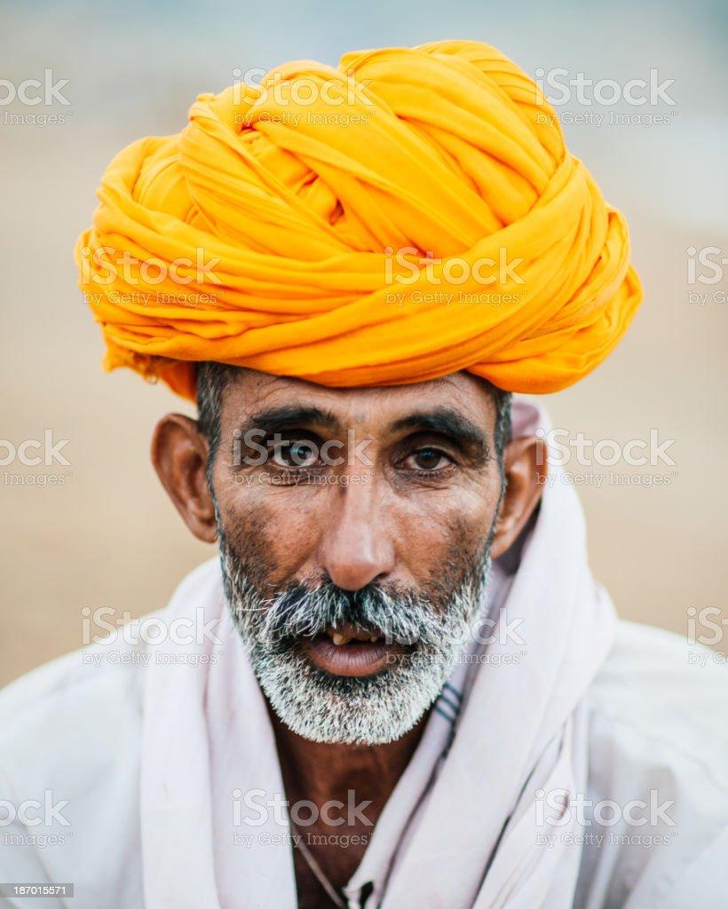 Pushkar Cattle Dealer royalty-free stock photo