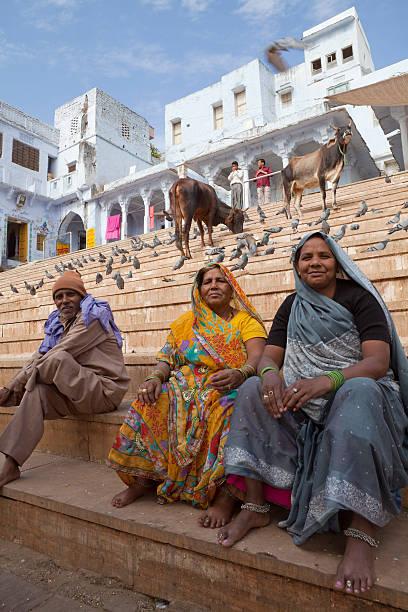 Pushkar ghat stock photo