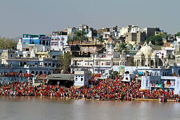 Pushkar Lake, Rajasthan stock photo