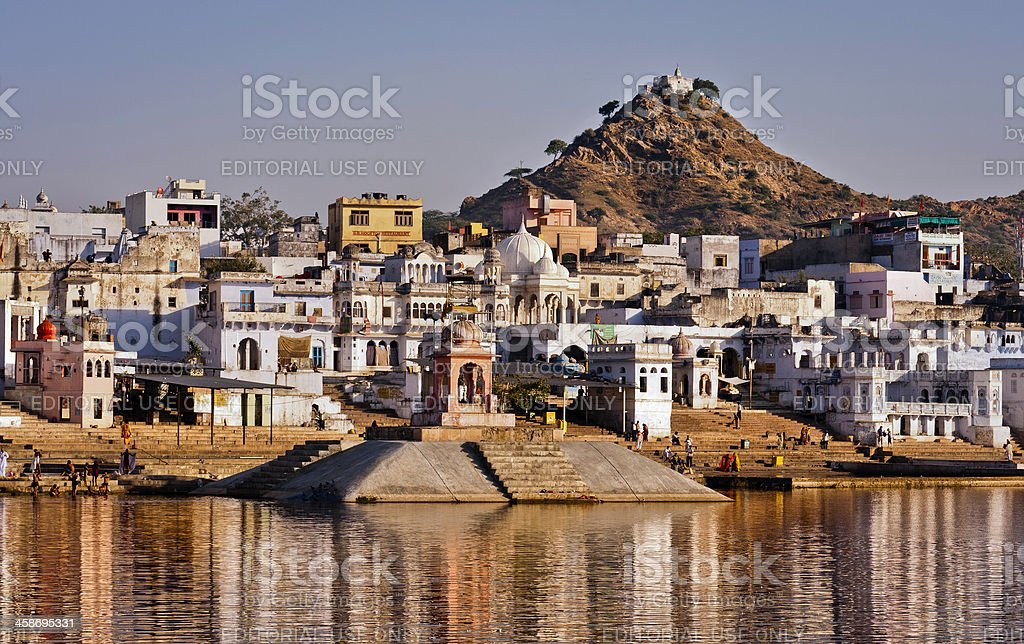 Pushkar, the holy lake, Rajasthan, India royalty-free stock photo