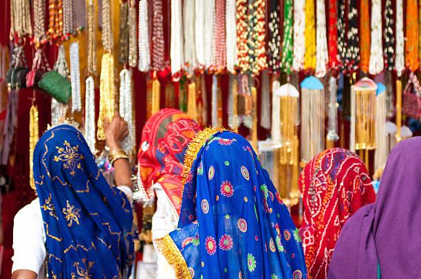 Pushksar Market Scene stock photo
