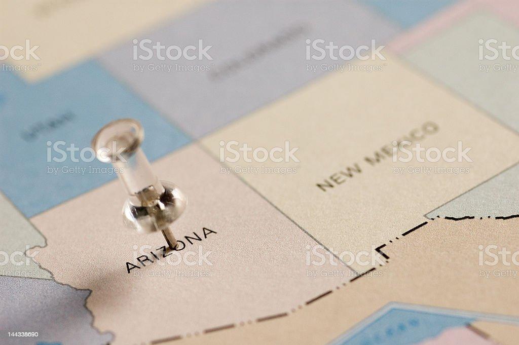 Pushpin location stock photo